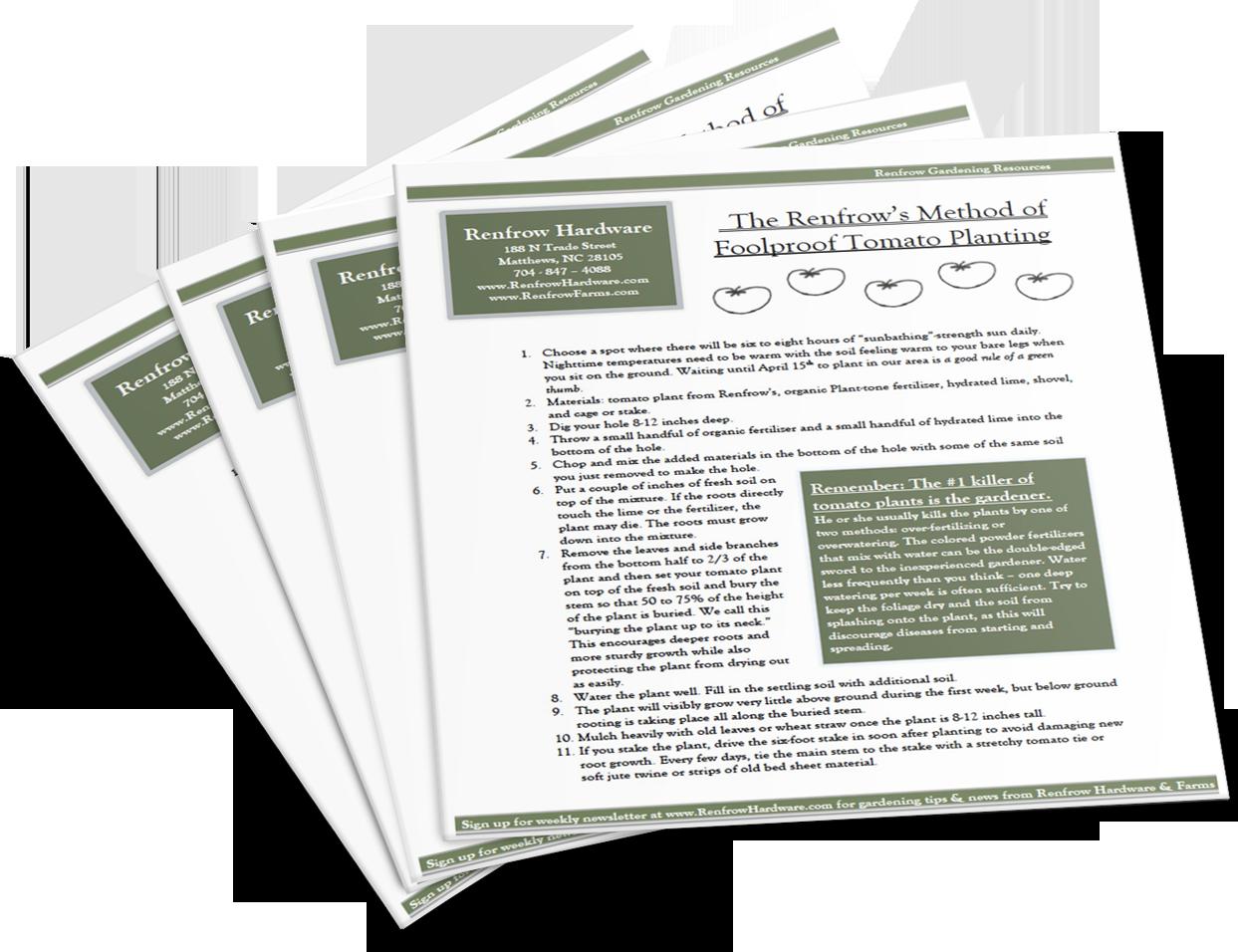 Veggie Download - Newsletter-signup - Renfrow Hardware